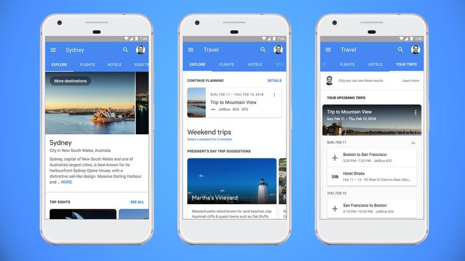 Google сделает удобнее планирование путешествий «на ходу»