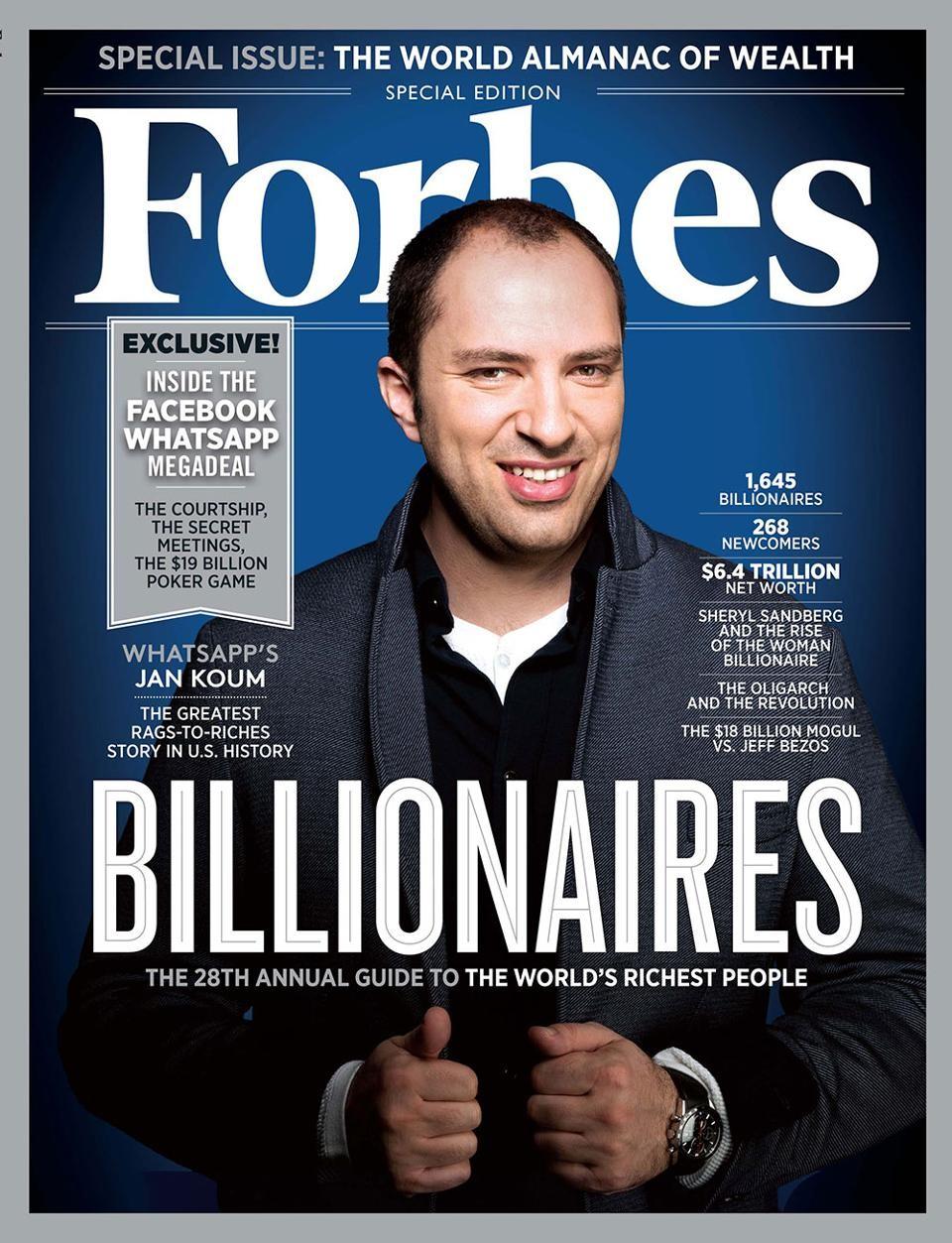 Создатель WhatsApp Брайан Эктон о продаже Facebook, совести и деньгах1