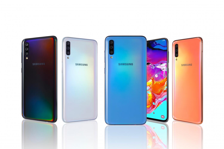 Samsung представила Galaxy A80 с поворотной камерой и A70 с дисплеем Infinity-U5