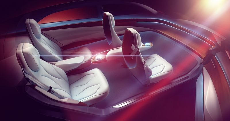 Volkswagen показала концепт самоуправляемого электрокара1