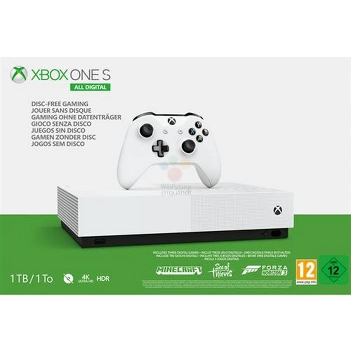 Microsoft перевыпустит консоль Xbox One S без оптического привода6