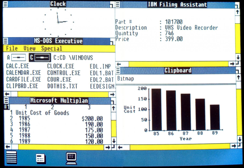 История развития и стандартные обои операционной системы Windows1