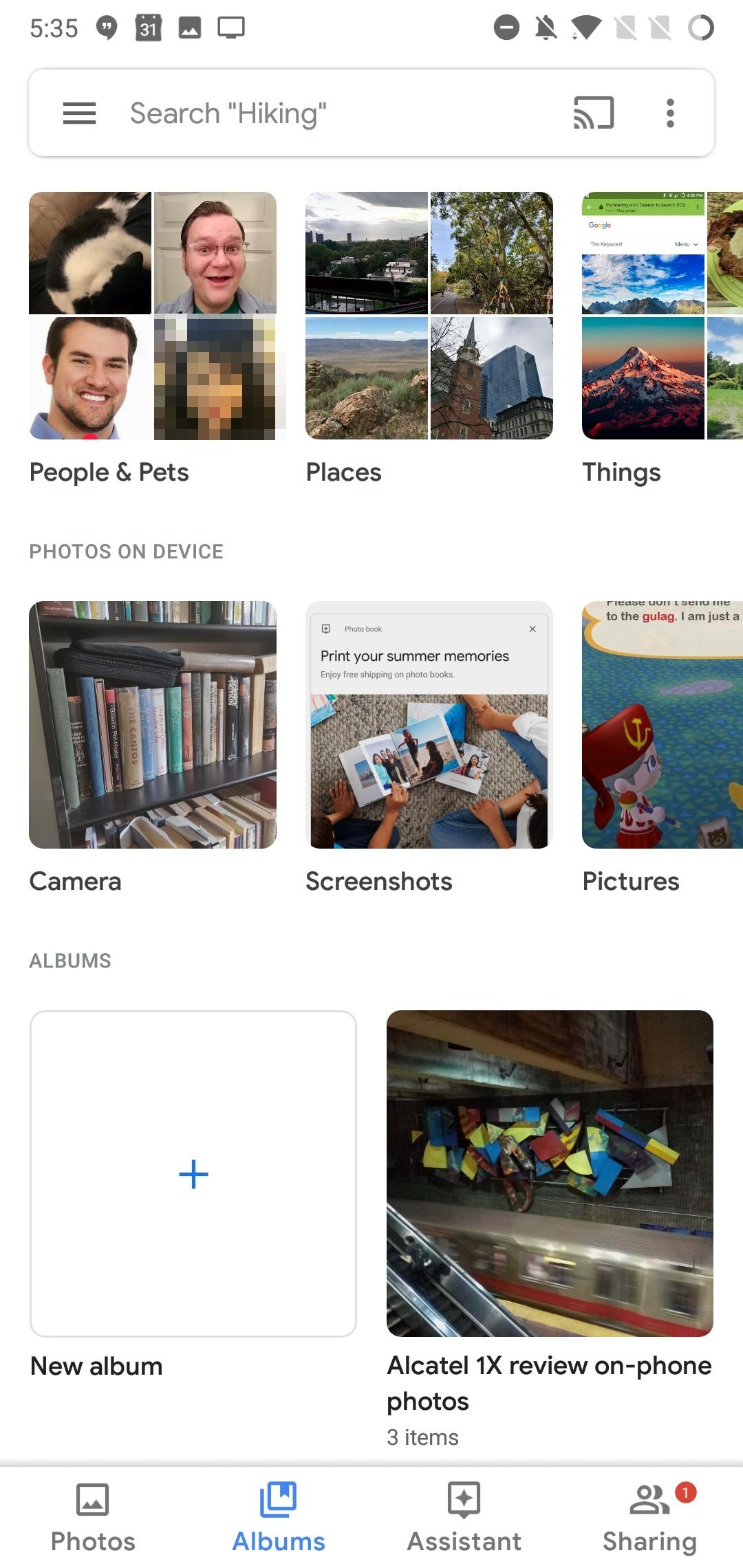 «Google Фото» получили обновлённый Material UI3