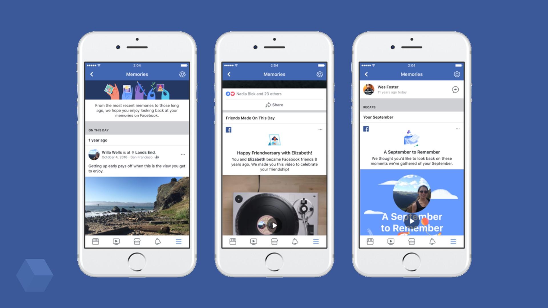 Facebook Memories соберёт значимые события из жизни пользователя