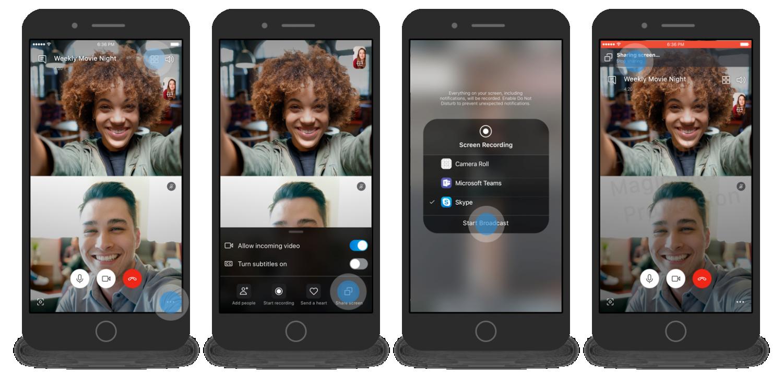 Skype представил функцию показа экрана для мобильных устройств1