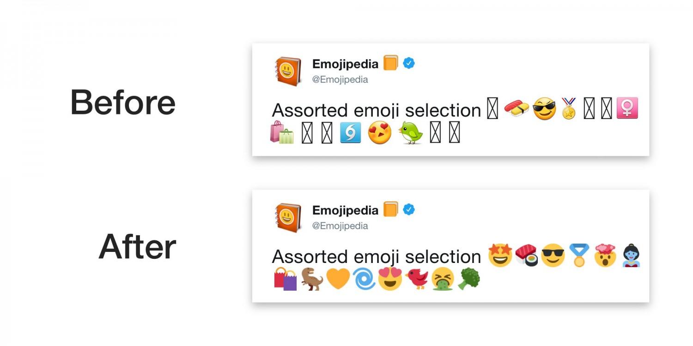 Twitter использует свои эмодзи ради старых версий Android1