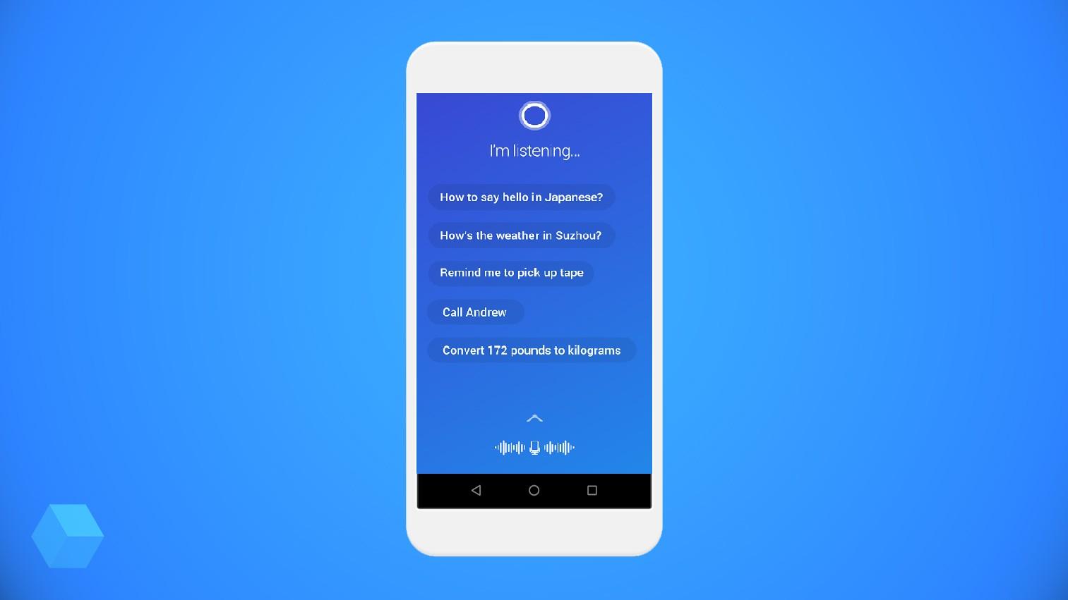 Голосовой ассистент Cortana для Android получил быстрый запуск