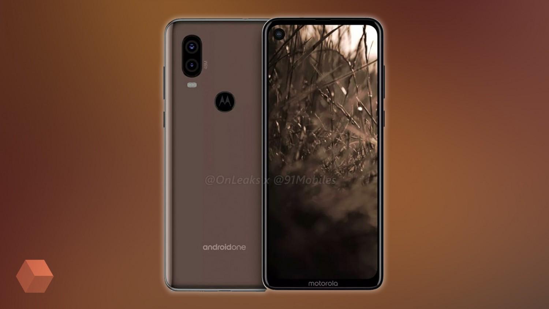 Рендер Motorola One Vision с отверстием под фронтальную камеру