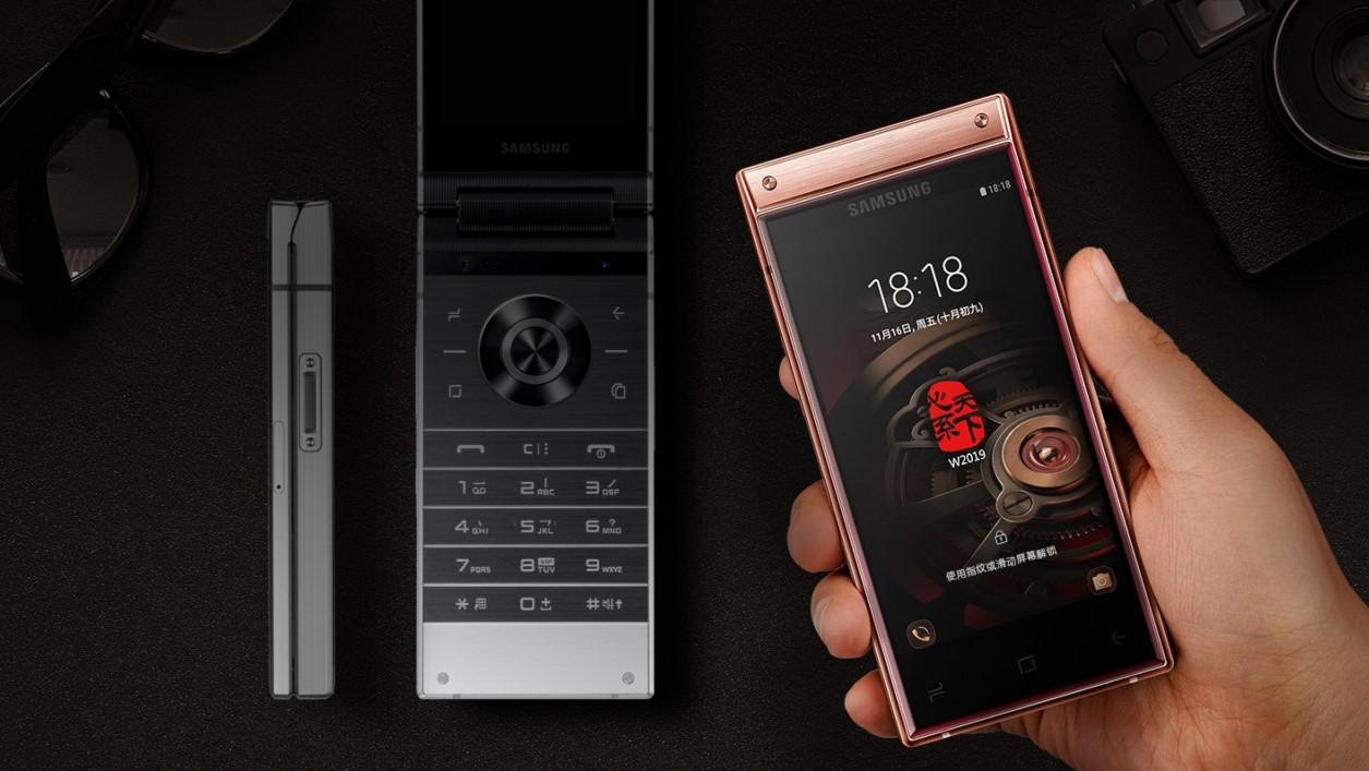 Samsung W2019: «раскладушка» с двумя дисплеями и Snapdragon 845