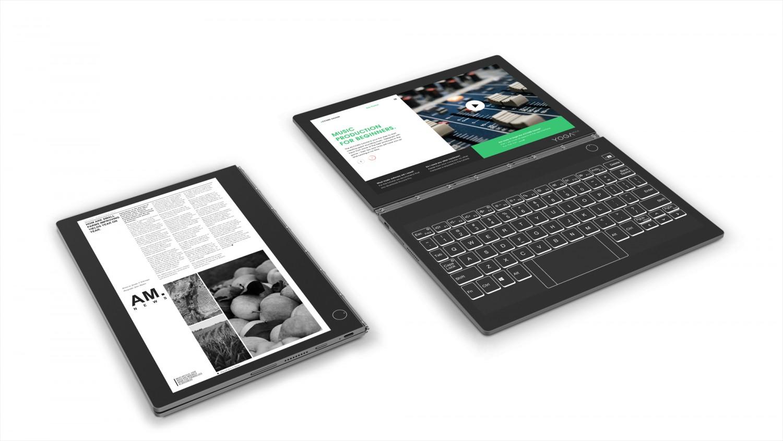 Lenovo Yoga Book C930 оснащён сенсорной E-Ink-клавиатурой2