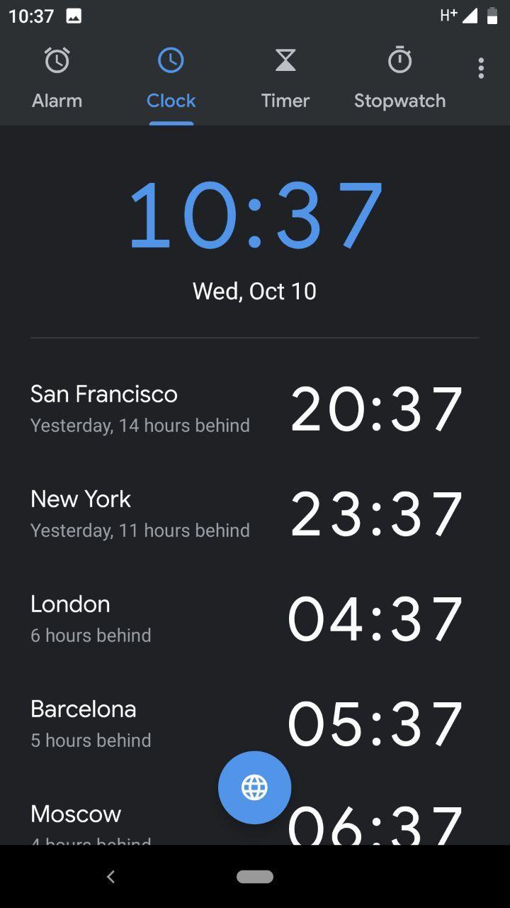 «Google Часы» 6.0 получили новый дизайн2