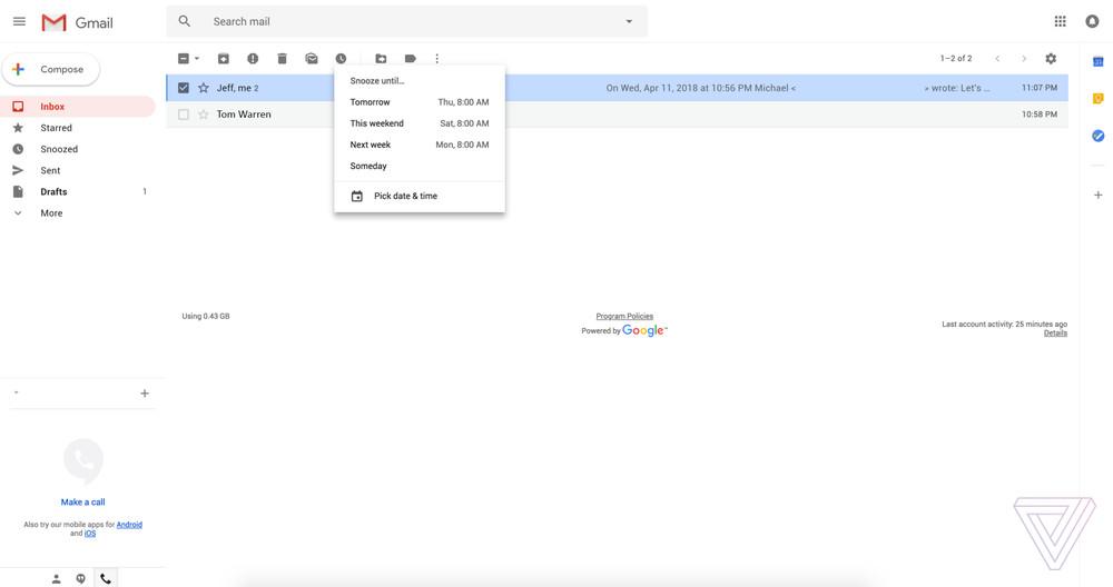 Gmail получит новый дизайн с «умными» ответами и отложенными письмами5