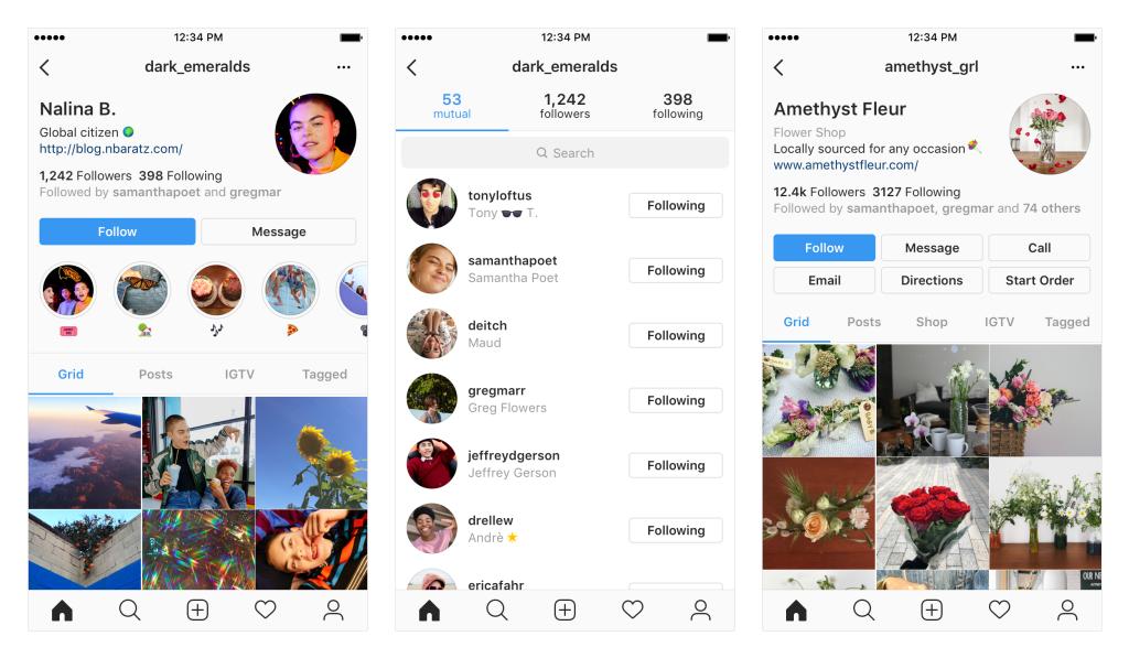 Instagram тестирует новый дизайн профиля пользователя1