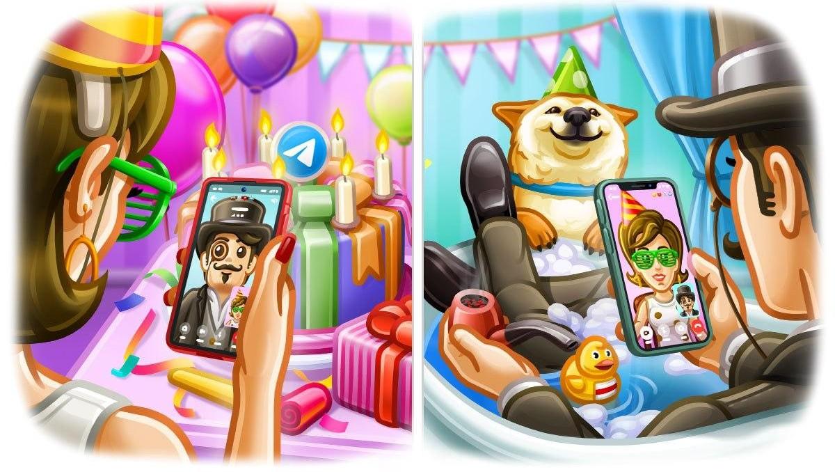 Telegram — 7 лет! В праздничном обновлении появились видеозвонки