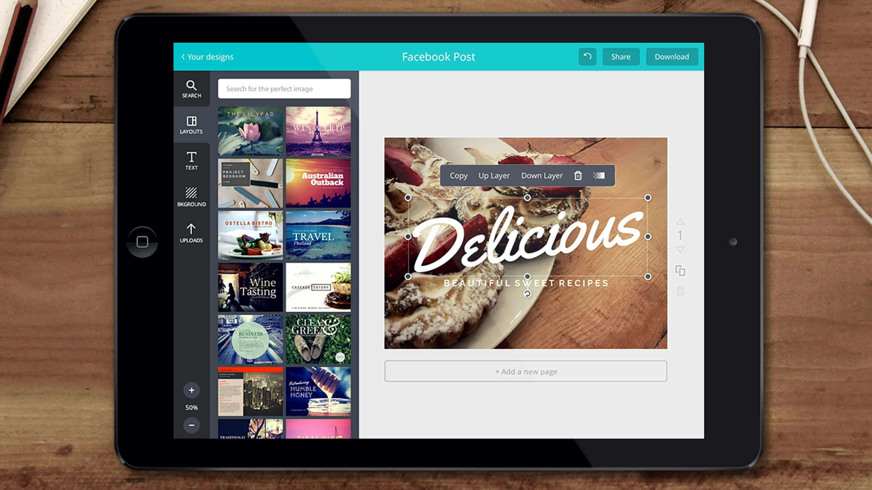 Android-приложение сервиса Canva получило русский язык