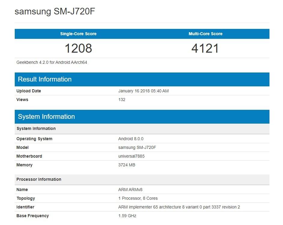 Новый бюджетник от Samsung получит Android 8.01