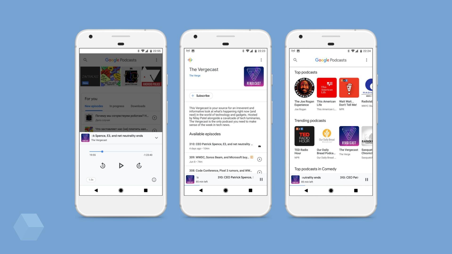 Приложение Google Podcasts появилось в Play Маркете