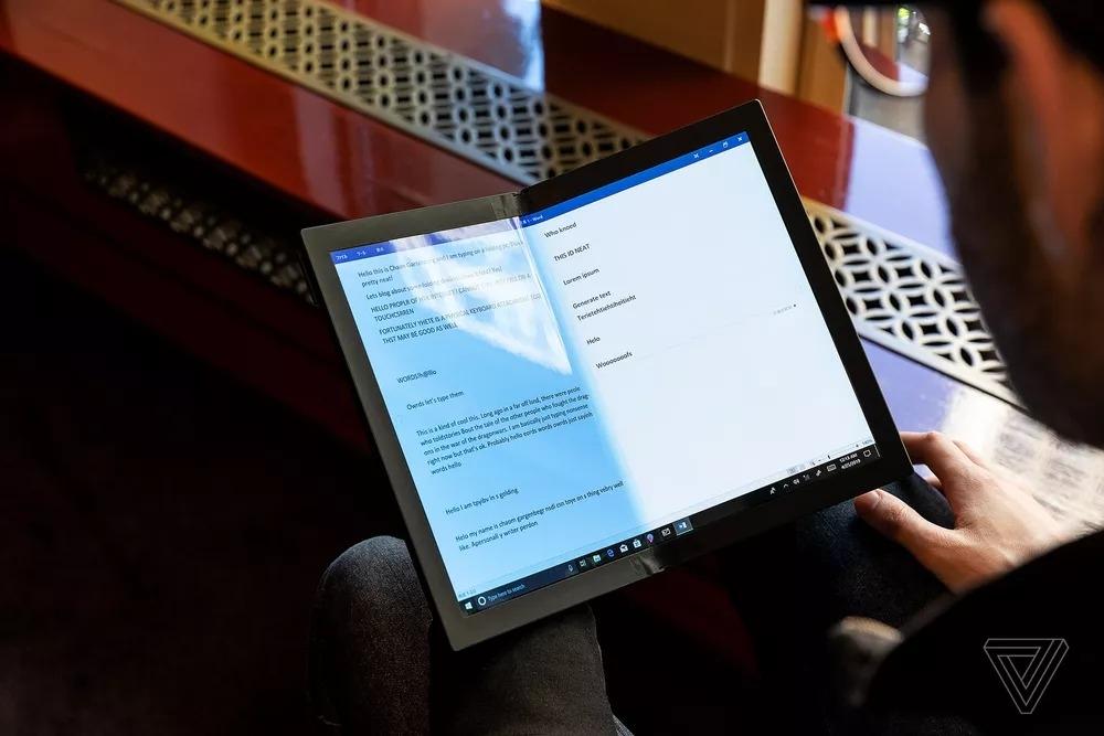 Lenovo показала первый в мире протитип ноутбука со складным экраном5