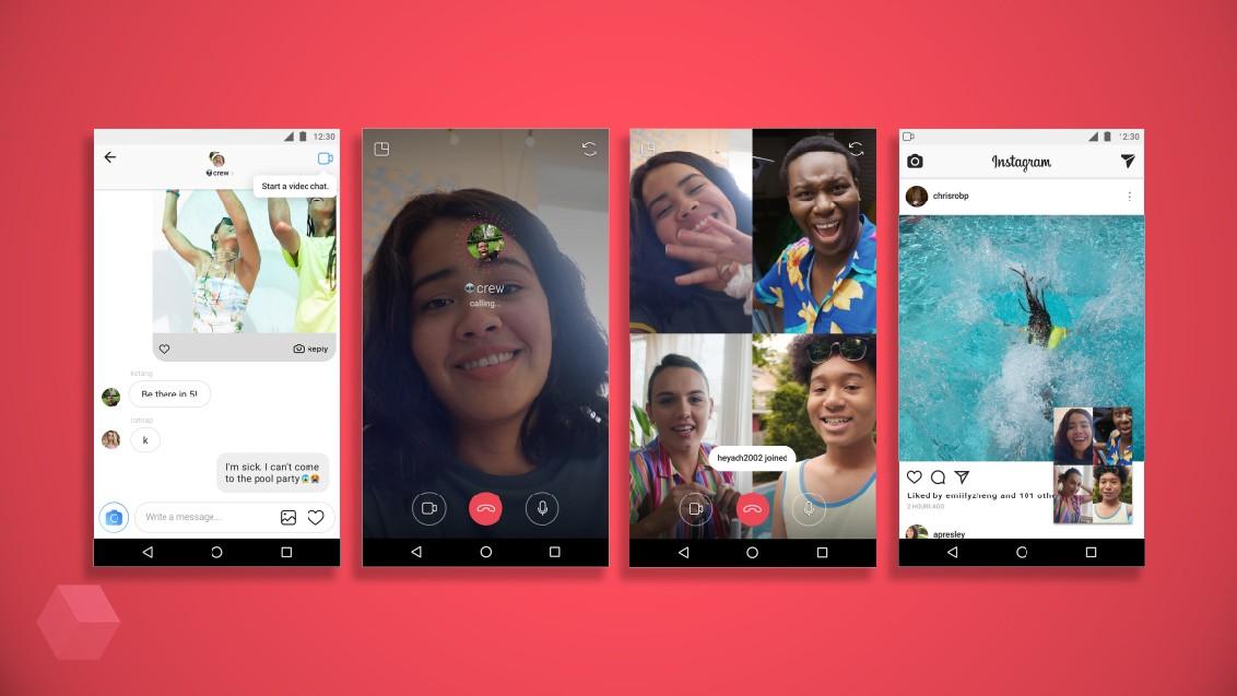 Instagram запустила групповые видеозвонки