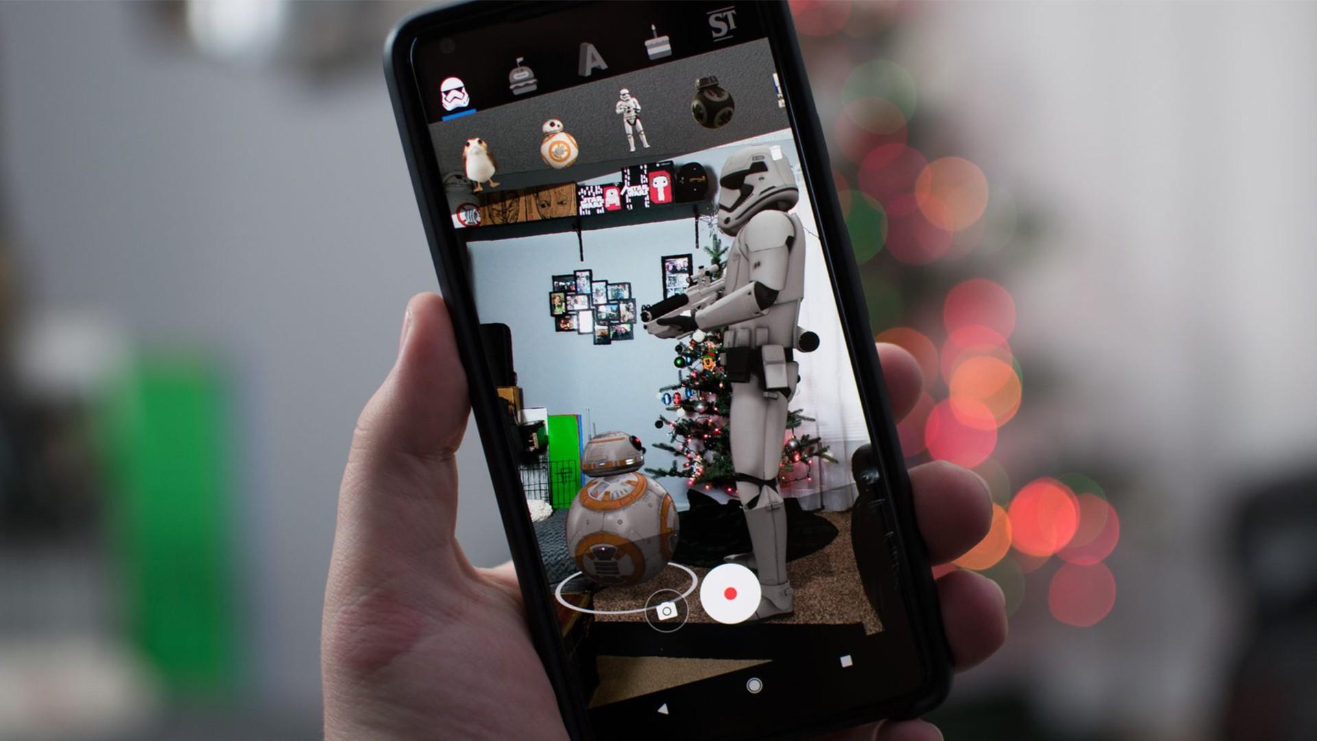 AR-стикеры от Google стали доступны для смартфонов с поддержкой ARCore