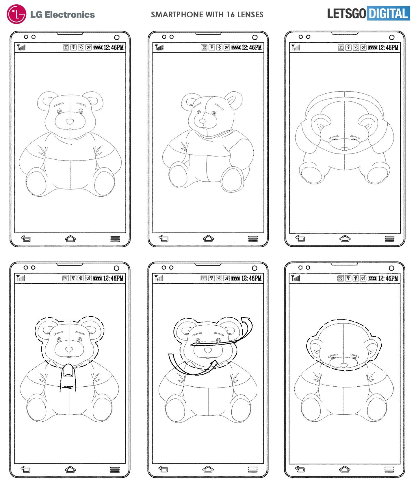 LG запатентовала смартфон с камерой из 16 объективов3