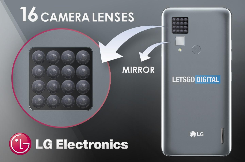 LG запатентовала смартфон с камерой из 16 объективов1