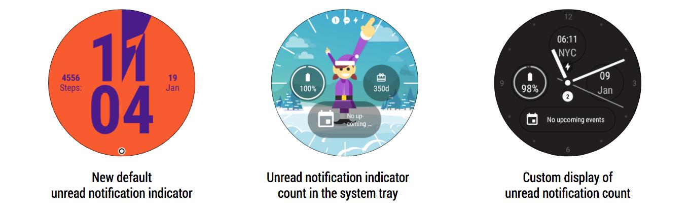 В Android Wear 2.9 появится индикатор пропущенных сообщений1