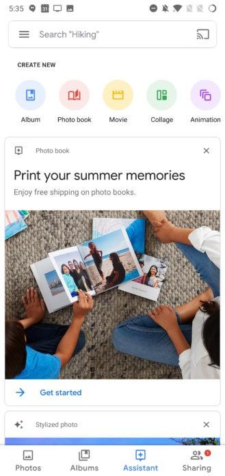 «Google Фото» получили обновлённый Material UI1